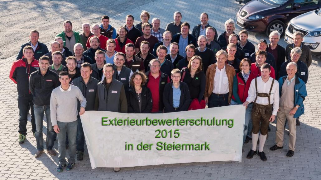 Die Teilnehmer an der Exterieurbewerterschulung 2015 in der Steiermark