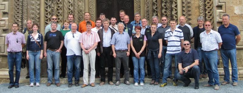Die Teilnehmer am Exterieurbewertertreffen in Ungarn im Mai 2013